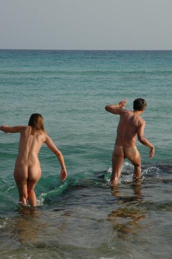 Coppia al mare