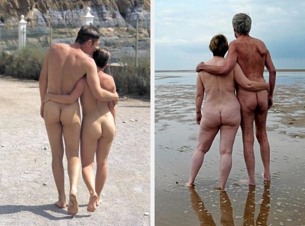 Due coppie di nudisti
