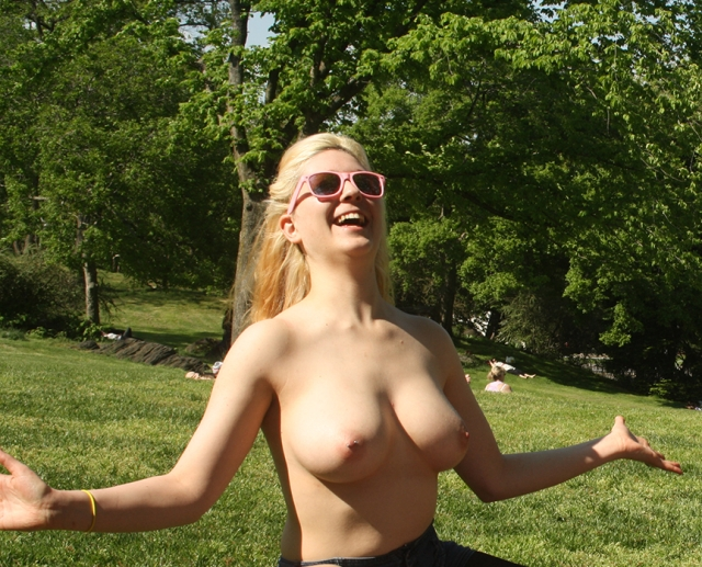 Topless in Central Park